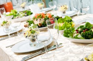 Catering Set Up Table